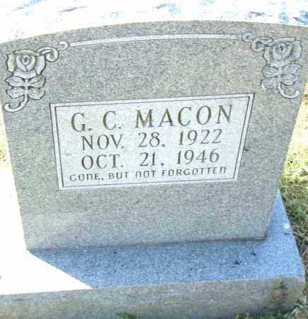 MACON, G. C. - Pulaski County, Arkansas   G. C. MACON - Arkansas Gravestone Photos