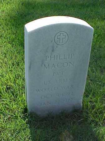 MACON (VETERAN WWI), PHILLIP - Pulaski County, Arkansas | PHILLIP MACON (VETERAN WWI) - Arkansas Gravestone Photos