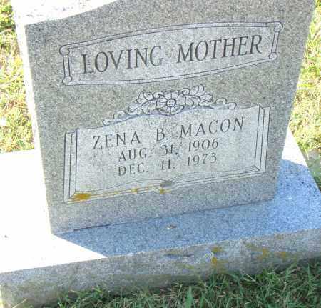 MACON, ZENA B. - Pulaski County, Arkansas | ZENA B. MACON - Arkansas Gravestone Photos
