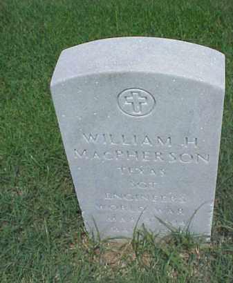 MACPHERSON (VETERAN WWI), WILLIAM H - Pulaski County, Arkansas | WILLIAM H MACPHERSON (VETERAN WWI) - Arkansas Gravestone Photos