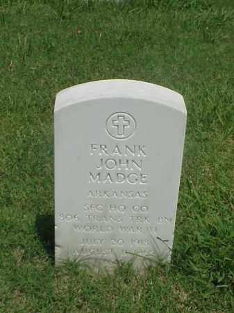 MADGE (VETERAN WWII), FRANK JOHN - Pulaski County, Arkansas | FRANK JOHN MADGE (VETERAN WWII) - Arkansas Gravestone Photos