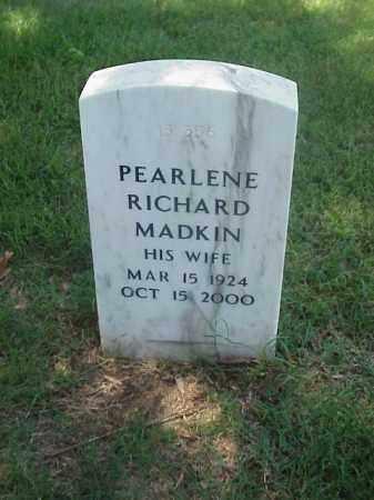 MADKIN, PEARLENE RICHARD - Pulaski County, Arkansas | PEARLENE RICHARD MADKIN - Arkansas Gravestone Photos