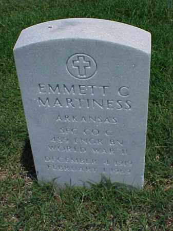 MARTINESS (VETERAN WWII), EMMETT C - Pulaski County, Arkansas | EMMETT C MARTINESS (VETERAN WWII) - Arkansas Gravestone Photos