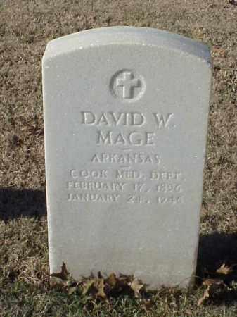 MAGE (VETERAN WWI), DAVID W - Pulaski County, Arkansas | DAVID W MAGE (VETERAN WWI) - Arkansas Gravestone Photos
