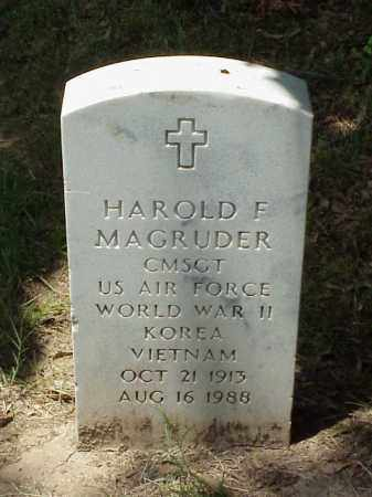 MAGRUDER (VETERAN 3 WARS), HAROLD F - Pulaski County, Arkansas | HAROLD F MAGRUDER (VETERAN 3 WARS) - Arkansas Gravestone Photos