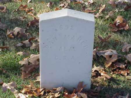 MAHER (VETERAN CSA), DAN - Pulaski County, Arkansas | DAN MAHER (VETERAN CSA) - Arkansas Gravestone Photos