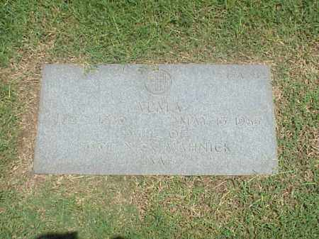 MAHNICK, ALMA - Pulaski County, Arkansas | ALMA MAHNICK - Arkansas Gravestone Photos