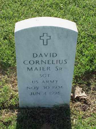 MAIER, SR (VETERAN), DAVID CORNELIUS - Pulaski County, Arkansas | DAVID CORNELIUS MAIER, SR (VETERAN) - Arkansas Gravestone Photos