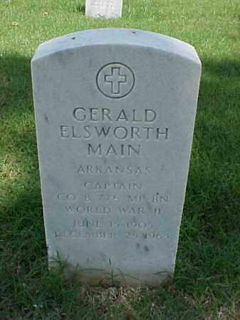 MAIN (VETERAN WWII), GERALD ELSWORTH - Pulaski County, Arkansas | GERALD ELSWORTH MAIN (VETERAN WWII) - Arkansas Gravestone Photos