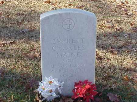 MAINE (VETERAN 3 WARS), EVERETT CHARLES - Pulaski County, Arkansas   EVERETT CHARLES MAINE (VETERAN 3 WARS) - Arkansas Gravestone Photos