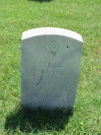 MALONE, ETHEL - Pulaski County, Arkansas | ETHEL MALONE - Arkansas Gravestone Photos