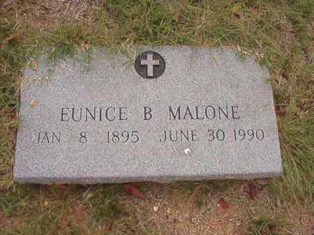 MALONE, EUNICE B - Pulaski County, Arkansas | EUNICE B MALONE - Arkansas Gravestone Photos