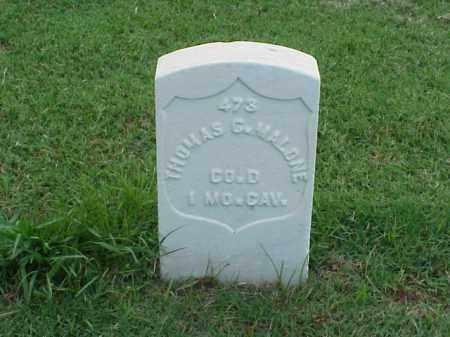 MALONE (VETERAN UNION), THOMAS G - Pulaski County, Arkansas | THOMAS G MALONE (VETERAN UNION) - Arkansas Gravestone Photos