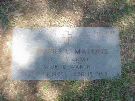 MALONE (VETERAN WWII), ANDERS C - Pulaski County, Arkansas | ANDERS C MALONE (VETERAN WWII) - Arkansas Gravestone Photos