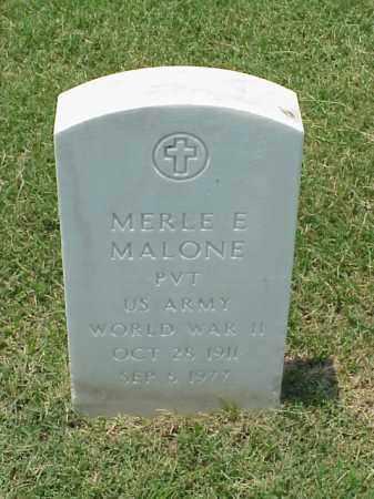 MALONE (VETERAN WWII), MERLE E - Pulaski County, Arkansas | MERLE E MALONE (VETERAN WWII) - Arkansas Gravestone Photos