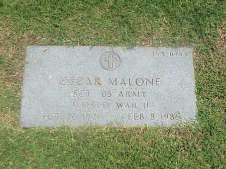 MALONE (VETERAN WWII), OSCAR - Pulaski County, Arkansas   OSCAR MALONE (VETERAN WWII) - Arkansas Gravestone Photos