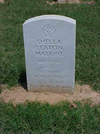MALONE (VETERAN WWII), SHELLA LEATON - Pulaski County, Arkansas | SHELLA LEATON MALONE (VETERAN WWII) - Arkansas Gravestone Photos
