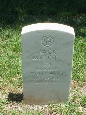 MALOTT (VETERAN WWI), JACK - Pulaski County, Arkansas | JACK MALOTT (VETERAN WWI) - Arkansas Gravestone Photos