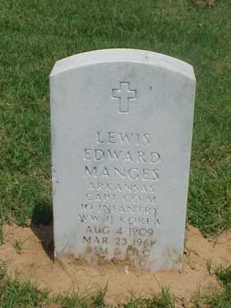 MANGES (VETERAN 2 WARS), LEWIS EDWARD - Pulaski County, Arkansas   LEWIS EDWARD MANGES (VETERAN 2 WARS) - Arkansas Gravestone Photos