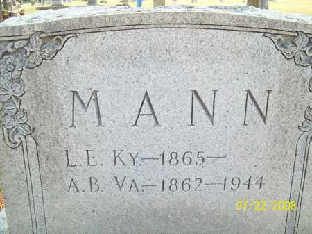 MANN, L.E. - Pulaski County, Arkansas | L.E. MANN - Arkansas Gravestone Photos