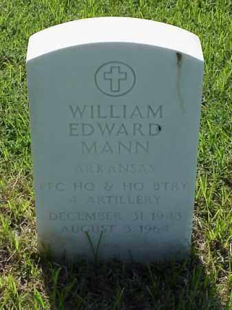 MANN (VETERAN VIET), WILLIAM EDWARD - Pulaski County, Arkansas   WILLIAM EDWARD MANN (VETERAN VIET) - Arkansas Gravestone Photos