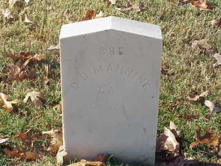 MANNING (VETERAN CSA), D D - Pulaski County, Arkansas | D D MANNING (VETERAN CSA) - Arkansas Gravestone Photos