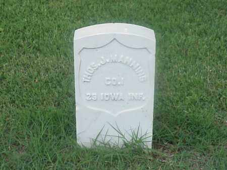 MANNING (VETERAN UNION), THOMAS J - Pulaski County, Arkansas | THOMAS J MANNING (VETERAN UNION) - Arkansas Gravestone Photos