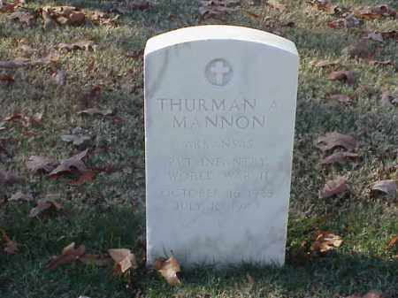 MANNON (VETERAN WWII), THURMAN A - Pulaski County, Arkansas   THURMAN A MANNON (VETERAN WWII) - Arkansas Gravestone Photos
