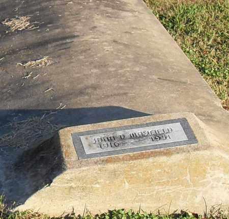 MANSFIELD, JOHN - Pulaski County, Arkansas   JOHN MANSFIELD - Arkansas Gravestone Photos