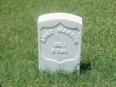 MANSON (VETERAN UNION), ARME - Pulaski County, Arkansas | ARME MANSON (VETERAN UNION) - Arkansas Gravestone Photos