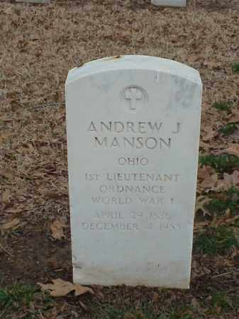 MANSON (VETERAN WWI), ANDREW J - Pulaski County, Arkansas | ANDREW J MANSON (VETERAN WWI) - Arkansas Gravestone Photos