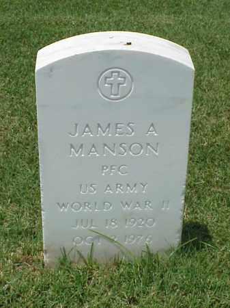 MANSON (VETERAN WWII), JAMES A - Pulaski County, Arkansas | JAMES A MANSON (VETERAN WWII) - Arkansas Gravestone Photos