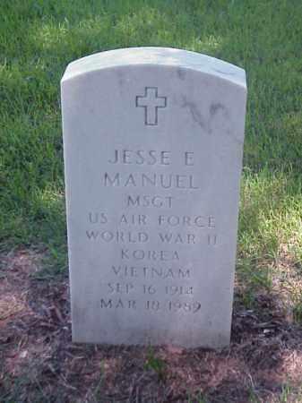 MANUEL (VETERAN 3 WARS), JESSE E - Pulaski County, Arkansas | JESSE E MANUEL (VETERAN 3 WARS) - Arkansas Gravestone Photos