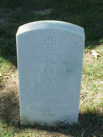MARABLE (VETERAN WWII POW ), JOHN W - Pulaski County, Arkansas | JOHN W MARABLE (VETERAN WWII POW ) - Arkansas Gravestone Photos