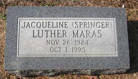 SPRINGER MARAS, JACQUELINE LUTHER - Pulaski County, Arkansas | JACQUELINE LUTHER SPRINGER MARAS - Arkansas Gravestone Photos