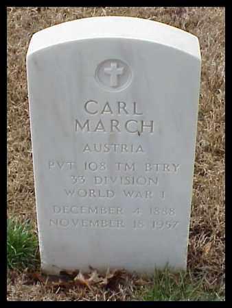 MARCH (VETERAN WWI), CARL - Pulaski County, Arkansas | CARL MARCH (VETERAN WWI) - Arkansas Gravestone Photos