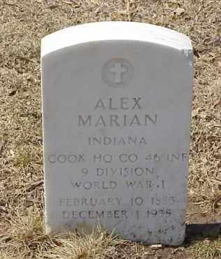 MARIAN  (VETERAN WWI), ALEX - Pulaski County, Arkansas | ALEX MARIAN  (VETERAN WWI) - Arkansas Gravestone Photos