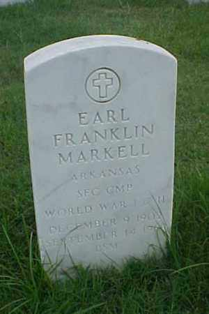 MARKELL (VETERAN 2 WARS), EARL FRANKLIN - Pulaski County, Arkansas   EARL FRANKLIN MARKELL (VETERAN 2 WARS) - Arkansas Gravestone Photos