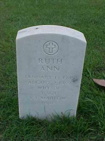 MARLOW, RUTH ANN - Pulaski County, Arkansas | RUTH ANN MARLOW - Arkansas Gravestone Photos