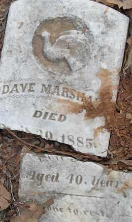 MARSHAL-, DAVE - Pulaski County, Arkansas   DAVE MARSHAL- - Arkansas Gravestone Photos