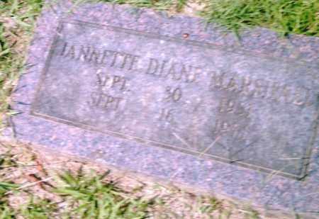 MARSHALL, JEANETTE  DIANE - Pulaski County, Arkansas | JEANETTE  DIANE MARSHALL - Arkansas Gravestone Photos