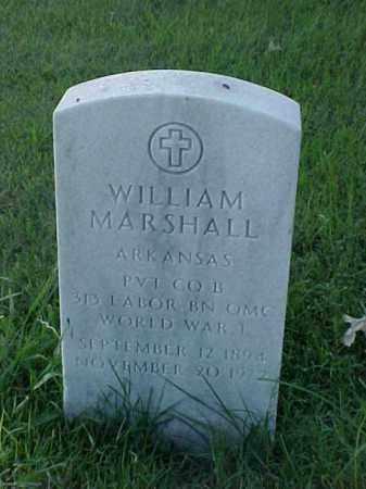 MARSHALL (VETERAN WWI), WILLIAM - Pulaski County, Arkansas | WILLIAM MARSHALL (VETERAN WWI) - Arkansas Gravestone Photos