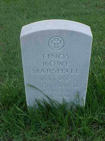 MARSHALL (VETERAN WWII), FINOS ROWE - Pulaski County, Arkansas | FINOS ROWE MARSHALL (VETERAN WWII) - Arkansas Gravestone Photos