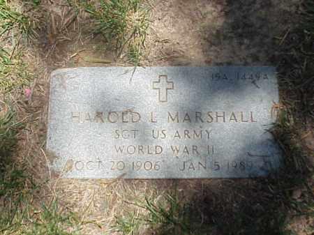 MARSHALL (VETERAN WWII), HAROLD L - Pulaski County, Arkansas   HAROLD L MARSHALL (VETERAN WWII) - Arkansas Gravestone Photos