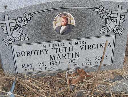 MARTIN, DOROTHY (TUTTI) VIRGINIA - Pulaski County, Arkansas   DOROTHY (TUTTI) VIRGINIA MARTIN - Arkansas Gravestone Photos
