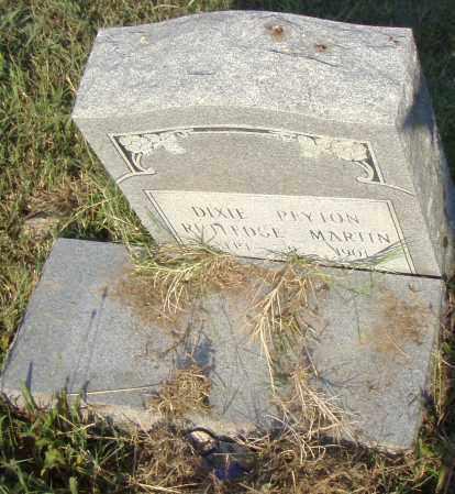 RUTLEDGE MARTIN, DIXIE - Pulaski County, Arkansas | DIXIE RUTLEDGE MARTIN - Arkansas Gravestone Photos