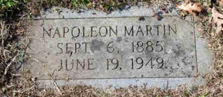 MARTIN, NAPOLEON BONAPARTE - Pulaski County, Arkansas   NAPOLEON BONAPARTE MARTIN - Arkansas Gravestone Photos