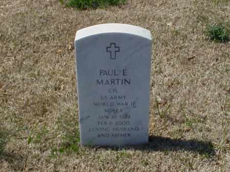 MARTIN (VETERAN 2 WARS), PAUL E - Pulaski County, Arkansas | PAUL E MARTIN (VETERAN 2 WARS) - Arkansas Gravestone Photos