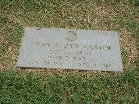 MARTIN (VETERAN WWII), JOHN FLOYD - Pulaski County, Arkansas   JOHN FLOYD MARTIN (VETERAN WWII) - Arkansas Gravestone Photos