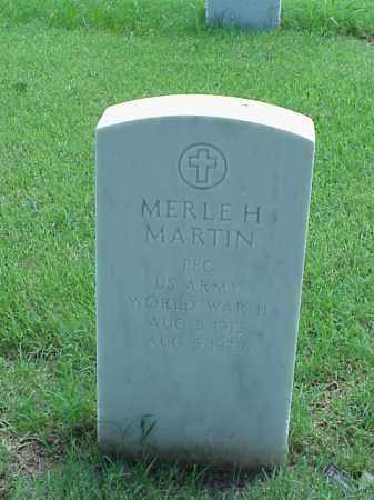 MARTIN (VETERAN WWII), MERLE H - Pulaski County, Arkansas   MERLE H MARTIN (VETERAN WWII) - Arkansas Gravestone Photos